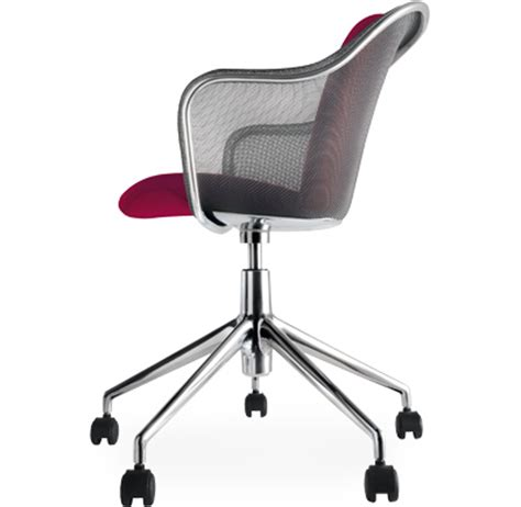 iuta swivel task chair with upholstered seat hivemodern