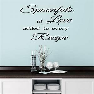 kitchen wall sticker quote by mirrorin