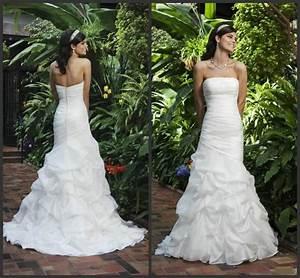 Elegant Mermaid Wedding Dresses Strapless Sweep Length ...