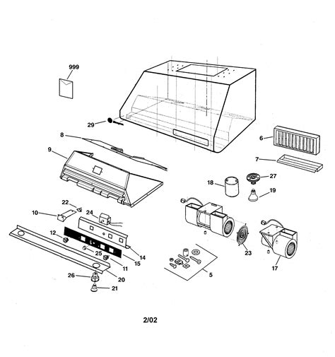 ge zvyss range hood parts sears partsdirect