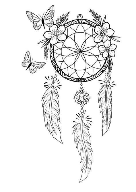 Pin by Monica Coleman on Adult Coloring Pages | Dream catcher tattoo design, Dream catcher