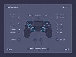 Ps4 Controller Button Layout By Emile Rohlandt On Dribbble
