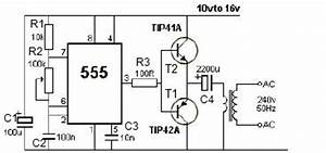 gt circuits gt 12v power inverter using 555 timer circuit With dc to ac inverter is based on the popular 555 a 555 oscillator circuit