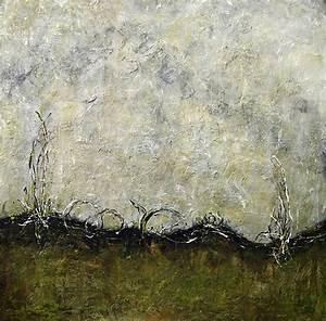 moor 100x100 gruen risse malerei bild kreativLISTE