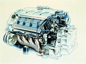 Cadillac Northstar 32 V8 Engine Cutaway Drawing In High
