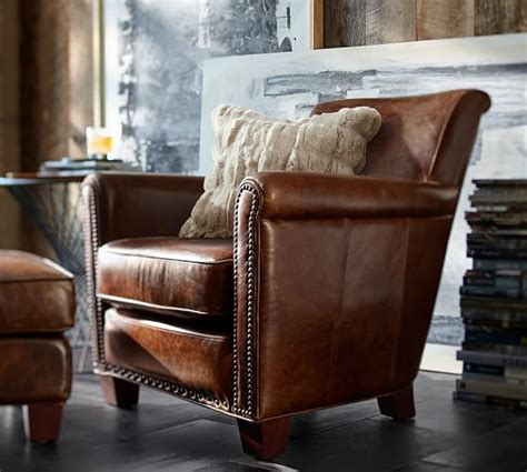 pottery barn irving chair irving leather armchair pottery barn