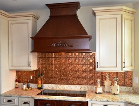 copper kitchen backsplash ideas cool copper backsplash contemporary kitchen ta