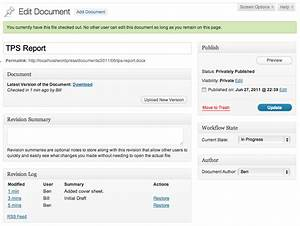wp document revisions document management and version With document management system version control