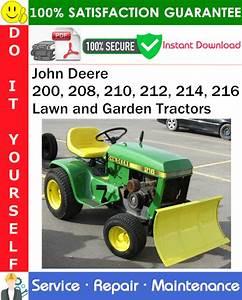 John Deere 200  208  210  212  214  216 Lawn And Garden