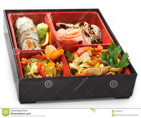 japanese cuisine bento lunch stock image image 10895241