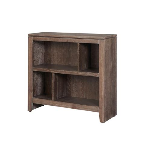 Small Shelf Bookcase by Linon Home Decor Bonnie Washed Brown Finish Small Bookcase