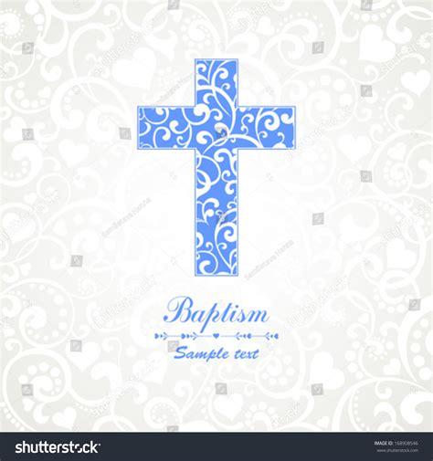 Baptism Card Design Cross Vector Illustration Stock Vector