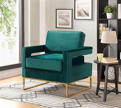 Velvet Accent Chair Furniture Noah Meridian Contemporary