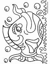 Coloring Pages Fish Sheets Printable Fishes sketch template