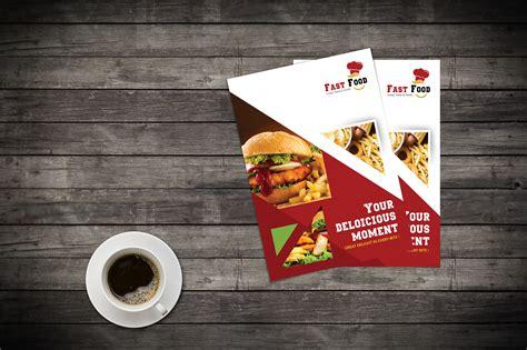 The biggest source of free photorealistic food mockups online! Fast Food Flyer Design (Free Mock up Psd) on Behance