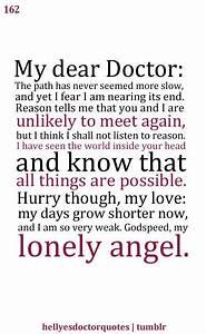So saaaaaaad! R... Doctor Girlfriend Quotes