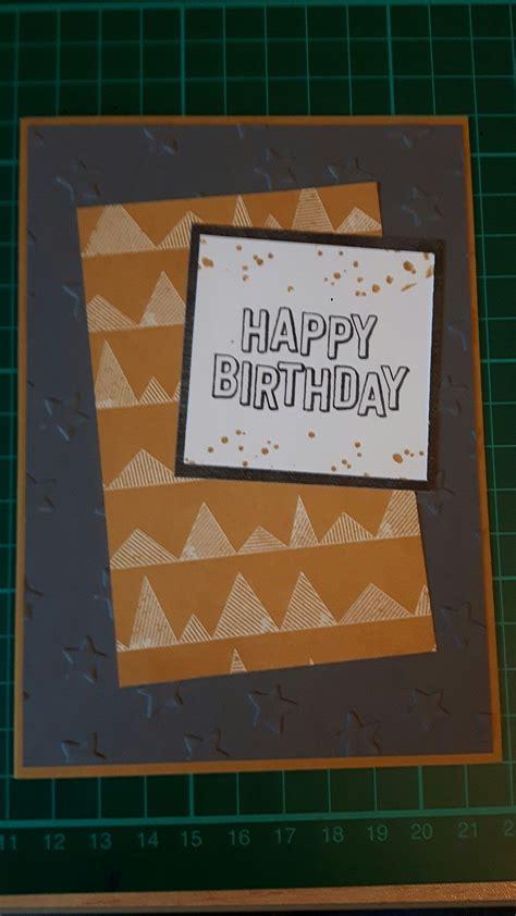 masculine birthday card stampin  urban underground dsp