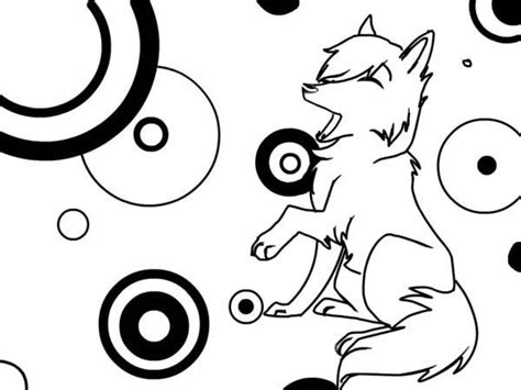 Get Coloring Pages Cute Wolf PNG
