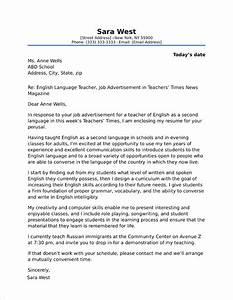 Teaching Objective Examples High School Teacher Cover Letter Sample