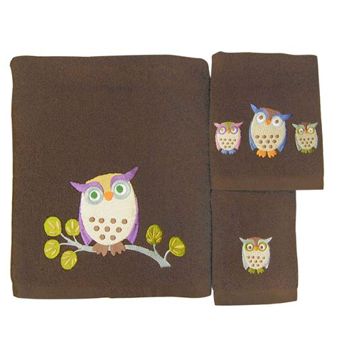 3 piece bath towel set awesome owls