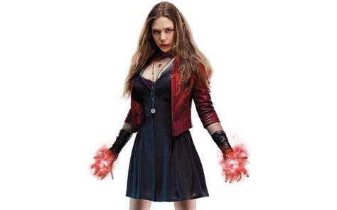 wallpaper scarlet witch elizabeth olsen marvel comics hd  movies