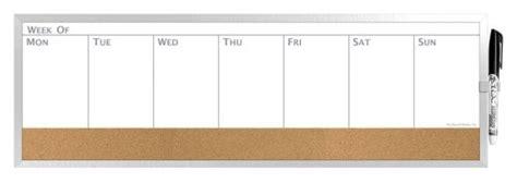 whiteboard cork board wall weekly calendar whiteboard weekly calendar template