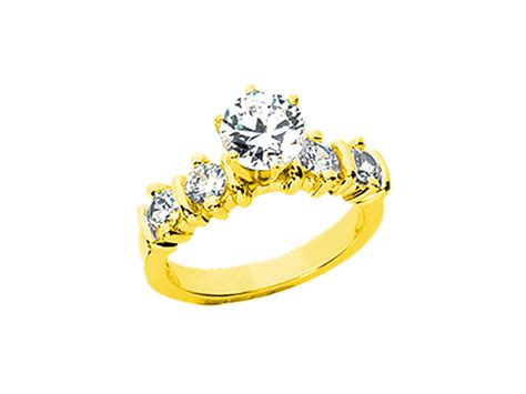 Genuine 1.00ct Round Diamond Engagement Ring Solid 10k
