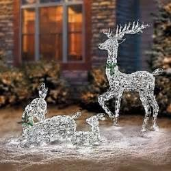 lighted led reindeer family outdoor decoration yard ebay