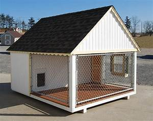 Cozy cottage kennels kennel kit dog house for Dog house and kennel
