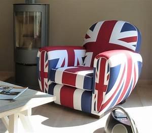 Fauteuil Club Tissu : fauteuil club tissu union jack fauteuil design ~ Teatrodelosmanantiales.com Idées de Décoration