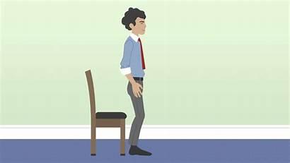 Chair Squats Stand Seat Deskercise Desk Edge