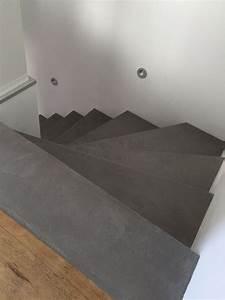 Neuer Belag Auf Alte Fliesen : beton cire treppe vinyl fugenlos betonoptik pinterest treppe haus treppe und treppenbelag ~ Orissabook.com Haus und Dekorationen