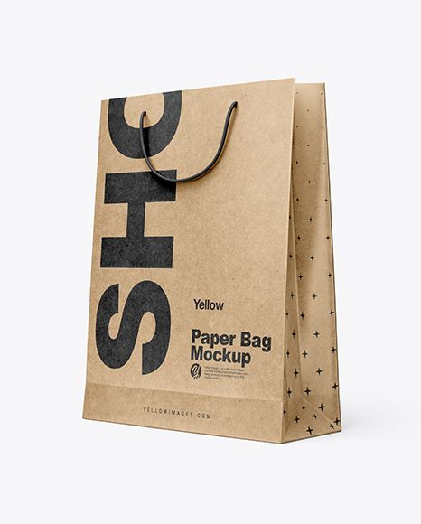 Shopping is fun, you see people would never waste the moment and opportunity to go for a shopping spree. Kraft Paper Shopping Bag Mockup - Half Side View PSD ...