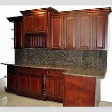 Showroom Cherry Rope Kitchen Cabinets And Granite Top For