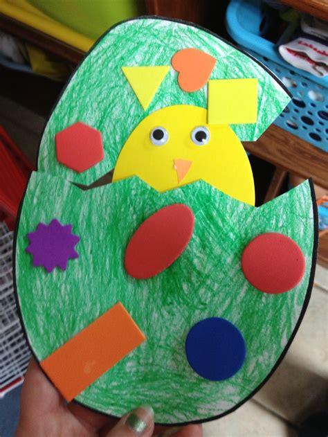 preschool crafts  kids easy easter chick egg