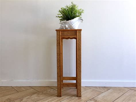 Reserved For Jenn....wicker Rattan Side Table