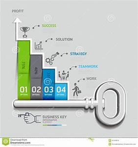 Business Key Staircase Concept Infographic Templat Stock