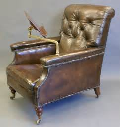 large victorian leather reading chair antiques atlas