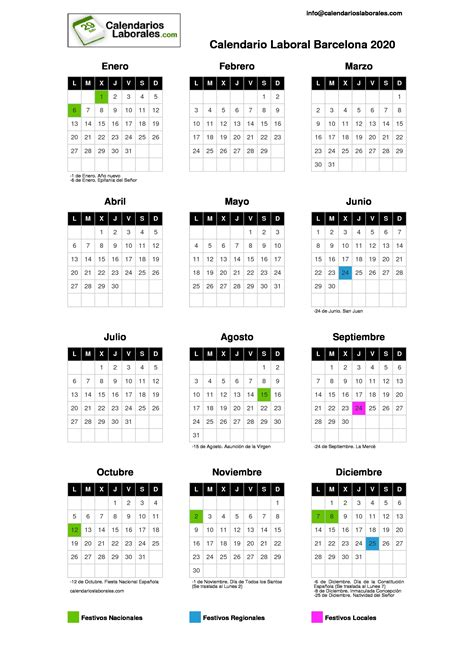 calendario laboral barcelona