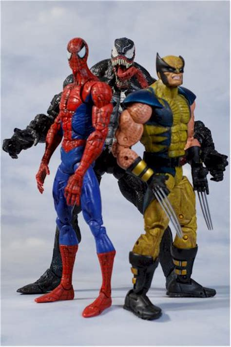 marvel legends icons beast  spider man action figures