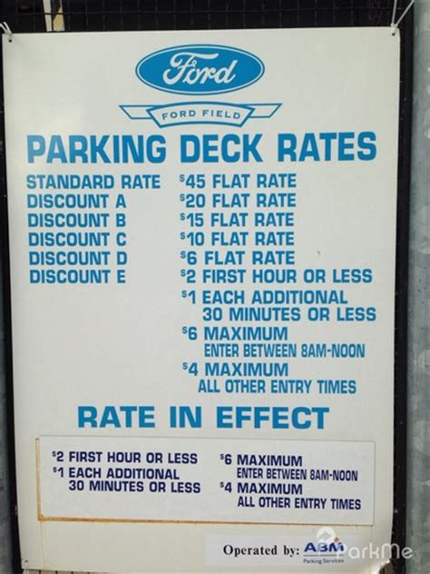 ford field parking deck hours ford field parking deck parking in detroit parkme