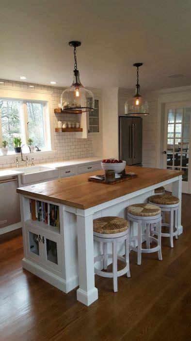 kitchen island ideas  seating  lighting