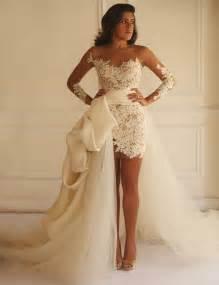 wedding gowns with detachable trains aliexpress buy sheath wedding dress 2015 sleeves lace wedding dress detachable