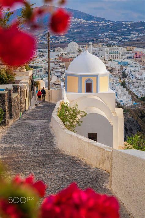 Spring In Fira Santorini Greece T R A V E L