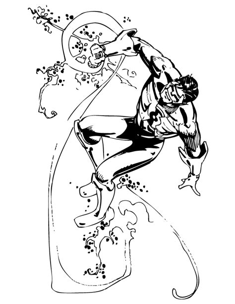 Coloring Comic by Classic Green Lantern Comic Book Coloring Page H M