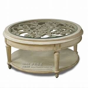 American neo classical european style coffee table carved for Double round coffee table