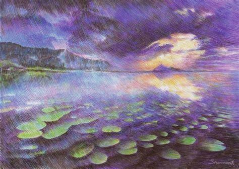 marite desaine creates magical landscapes  ballpoint