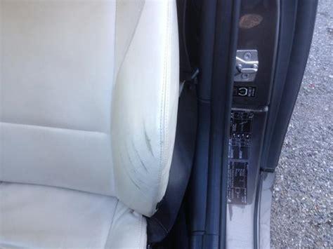 trou cigarette siege auto réparation de trou de cigarette ou de griffure sur cuir