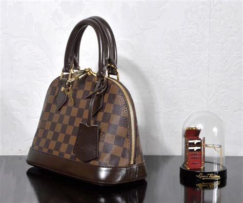 replica lv louis vuitton  alma bb handbag damier bag brown lv  luxury shop