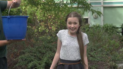 tween girl takes  stock footage video  royalty